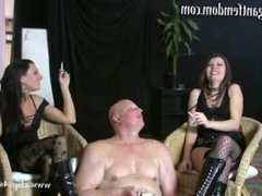 Smoking Femdom Mistresses - Ashtray Bitches Punishment