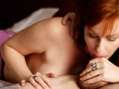 Redhead MILF Loves The Sucking