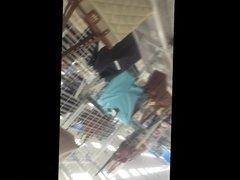 Upskirt Lifting sluts dress at the store