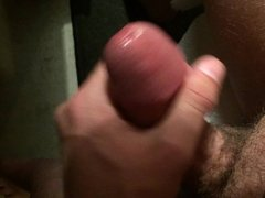 Close up jerk off with spurting cumshot