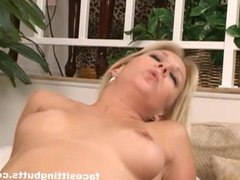Black guy got his way with this natural blonde MILF