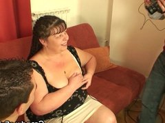 Big boobs mom riding teen cock on cam
