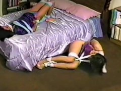 Girls Left Helpless Tied in Nightgowns by Burglar