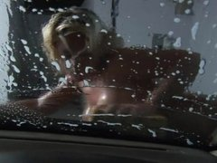 Velicity Von Washing A Car And Herself