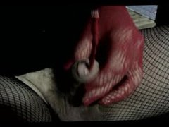 transvestite ts lingerie pantyhose in sounding urethral toy cock fetish