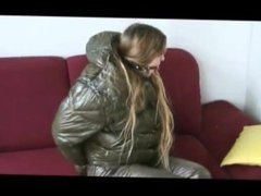 Puffy Coat Bound and Gagged