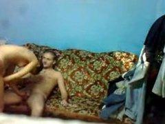 Romanian homemade threesome secretly filmed