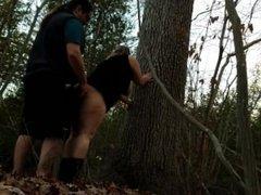 Open Season: Buck mounts Doe BBW Amateur Adventure Sex Public Sex in Woods