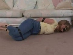 AMBER MICHAELS TAPE GAGGED BLINDFOLDED