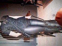 Sophie Shevardnadze leather pants cum tribute 2