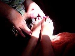 Cumshot on Stephs Feet