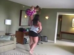 FBB One Arm Overhead Lift Small Girl