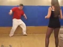 Pantyhose wrestling 3