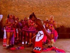 Topless African Zulu dance