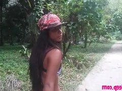 Heather deep go out on the boat and walk in the deep jungle gives a quick b