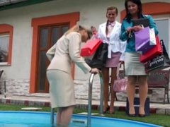 European Lesbians Get Wet And Messy