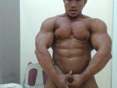 RIPPED Asian Bodybuilder Cumming Hard
