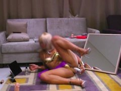 SISSY belly dancer rides huge dildo!! -SISSYMARTINA