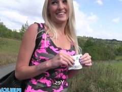 PublicAgent Hot blonde birthday babe gets cash and cock as her present