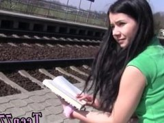 Girl rides dildo bike in public Masturbating at the instruct station
