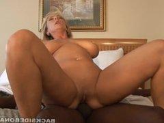 BACKSIDE Big Tit Milf fucks Black Cock while her Tits bounce