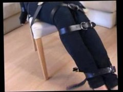 Chair tied dressing jeans and sweater