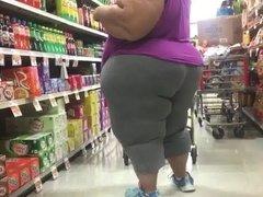 Spying Mature Massive Butt BBW Voyeur - Candid