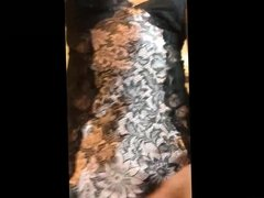 Lingerie anal play