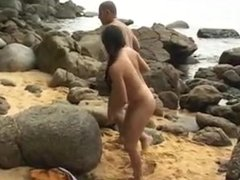 He fuck her good and then pees on her at the beach(Poison02)