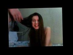 Sexy Teen Hairjob and Cum in Hair, Long Hair, Hair
