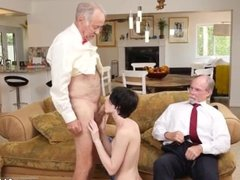 Old man caught jerking She a warm puny
