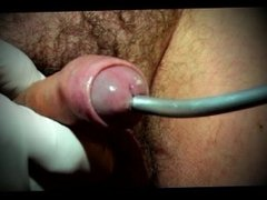 gay sissy urethral sounding toy in pantyhose nylon dildo