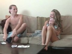 mom and step son play strip poker