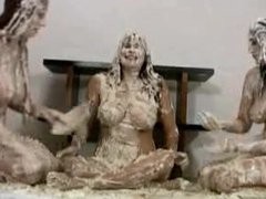 messy pie fight
