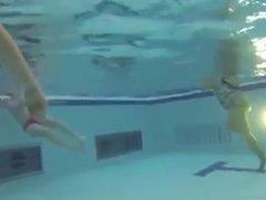 Under water handjob