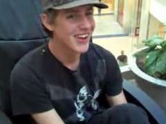 Cute teen shows US his feet in a busy Mall - LOL