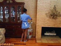 Horny Latina Maid Listens