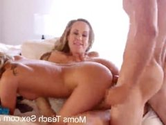 Mom teaches daughter and boyfriend how to fuck