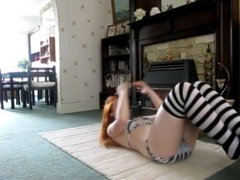 Krystle's workout during her paled skin empty gurgly stomach noises 480p :)