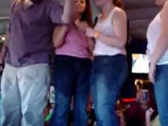 Amateur BBW Topless in Bar