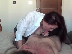 Girl with big tits does blowjob.  Amateur
