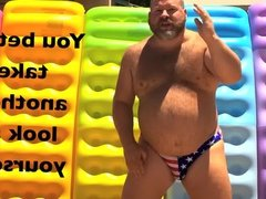 Big Bear Dancing On 4th Of July - Let Freedom Ring!