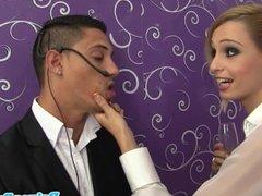 Glamour babe Erica Fontes gives sloppy head