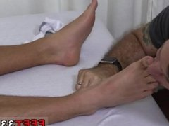 Guy licks other guys feet gay sex Tommy