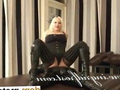 Meet her on DOM-MATCH.COM - LICK MY BOOTS AND KISS MY ASS LATEX SISS