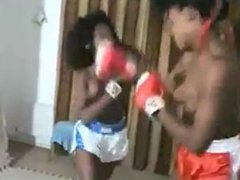 Black Topless boxing