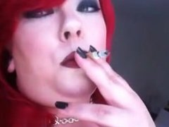 Met her on BBW-CDATE.COM - Lipstick Smoke PVC BBW Domme Fetish