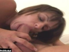 This brunette likes anal and you can see her big tits bounce on