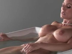 Luxury threesome coitus with MILF in the bathroom
