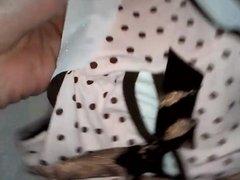 Masturbation with a sanitary napkin